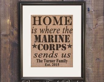 Marine  wife, Marines sign, Marines military sign, Marine Corps Sends Us, Marine wife, Military Art, Military Wall Art, Custom Military gift