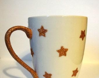 Glittered Star Mug