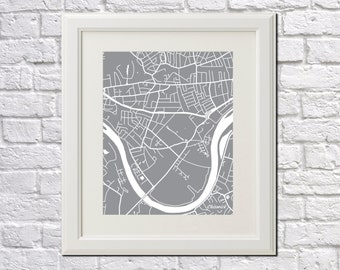 Chiswick Street Map Print Map of Chiswick District of London City Street Map Poster London Wall Art 7078P
