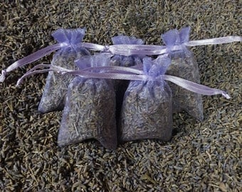 Lavender Sachet Bags Filled with Dried Lavender