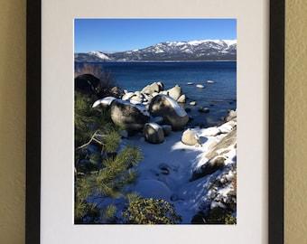 Lake Tahoe, Winter, Printable Wall Art, Digital Print, my original photo, Instant Download