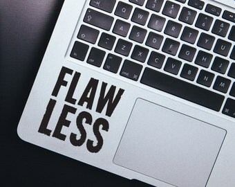 Laptop sticker - Computer Stickers - Laptop Decal - Vinyl stickers - Car decals - Car stickers - Flawless