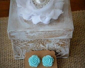 Wedding Gift Box Flower Girl Bridesmaid Shabby Chic Rustic Wedding Jewelry Trinket Box