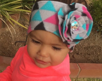 Winter headband for baby and toddler girls