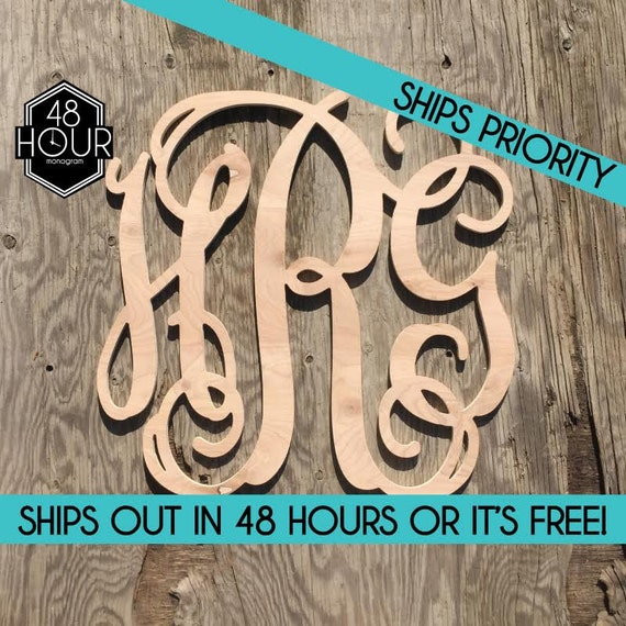 Fast 16 3 letter wooden monogram unpainted 16 inch for 16 wooden letters