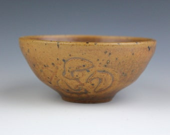 gold bowl No.1, Koi fish, Wheel-Throuwn and carved