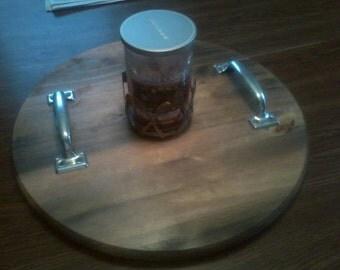 Wine Barrel Serving Tray