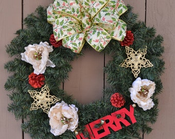 Merry Holiday Wreath