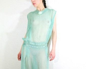 1920s Hello Dolly Dress - Drop Waist Open Back