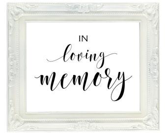 In loving memory etsy for In loving memory free printable