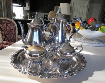 WILLIAM ROGERS SILVER Plate Tea or Coffee Set