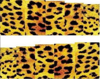 Nail Decals, Cheetah / Leopard Print Nail Stickers, Nail Wraps, Water Transfer, Animal Print Nail Art Decorations