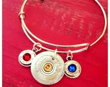 Red, White, And Blue Bullet Bangle Bracelet!