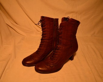 Vintage Brown Leather Women's Boots.Brand: ARISE