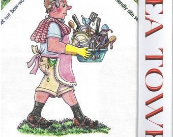 CARAVAN/MOTORHOME cartoon Tea Towel for the man who has everything!
