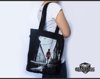 "Tote bag ""infestation"" fair trade & organic Zombie"
