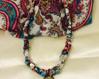 Colorful thin cotton Authentic Necklace