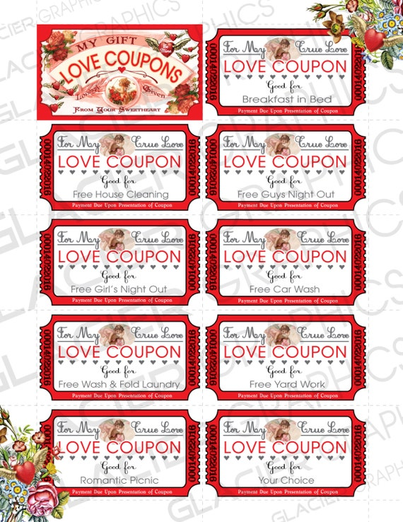Valentine love coupons business card template valentine for Love coupons for him template