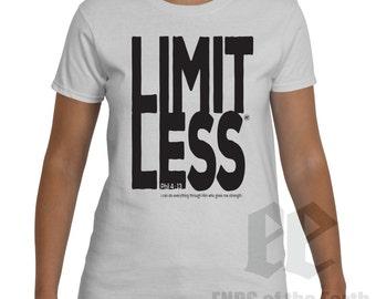 Limitless Philippians 4:13 - Women / Teen Girl White T-Shirt 70020W