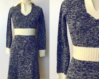 1970's Space Dyed Sweater Dress
