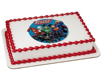 """Justice League Cry for Justice - Edible Cake Topper - 6"""""""