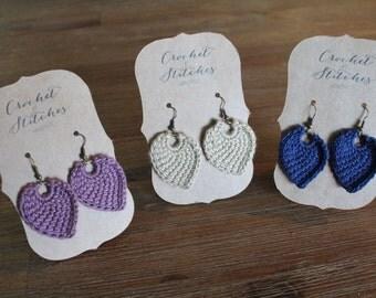 ON SALE ~ Crochet Earrings ~ Tunisan Crochet ~ Ladies Earrings