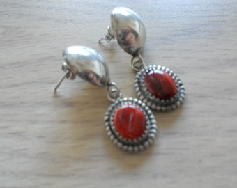 Serling Silver and Rhodochrosite