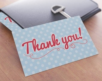 Polka Dot Thank You Card Christmas Gift
