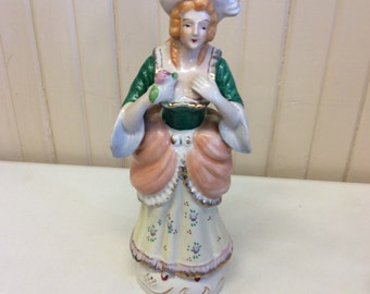 "Colonial Woman Figurine 10"" tall"