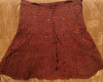 Chocolate skirt,  crochet skirt,  lace skirt
