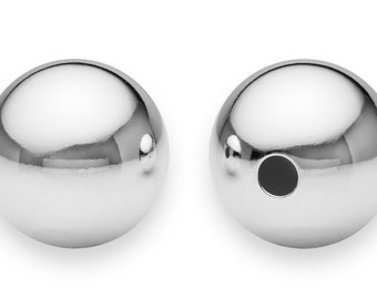 1 Pc 12 mm Sterling Silver Round Beads Seamless (SS402012)