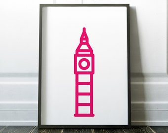 Big Ben Art Print - London, World Travel, Modern Decor