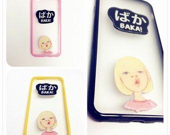 Unique 3D TPU iPhone Case   Black Yello Pink iPhone Case   Cool iphone Case 5/5s Super Cute iPhone Case 6 6s   Girly iPhone Case 6 Plus   #2
