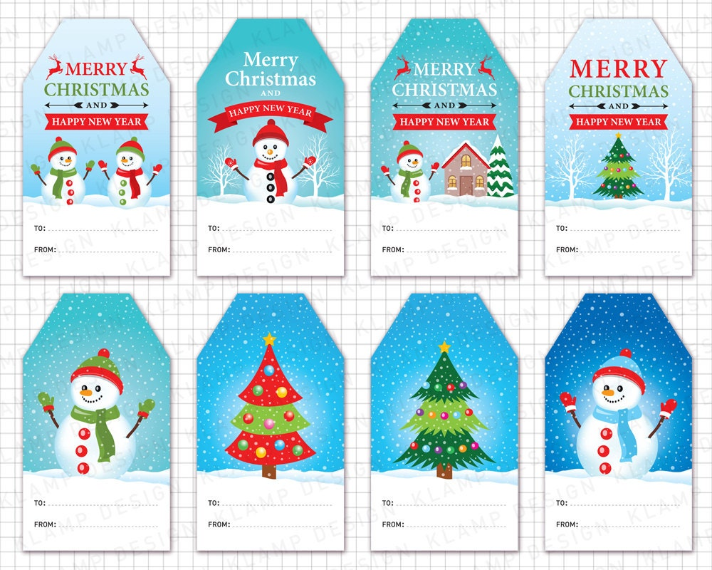 Christmas Tags: Christmas Tags Clipart: CHRISTMAS GIFT Tags