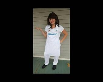 Flo Progressive Apron & I Heart Insurance Button