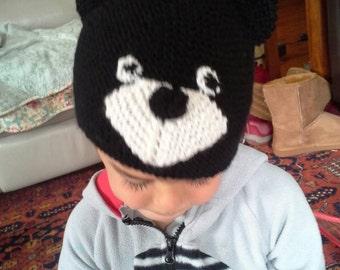Black teddy bear beanie