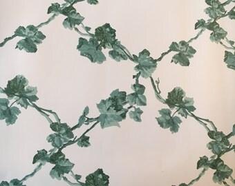 Motif Vintage Wallpaper Green Emerald Lattice Vines