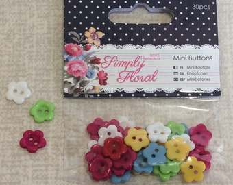 Mini Buttons Flowers