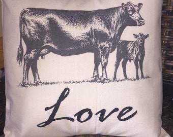 Cow lovers' pillow cover