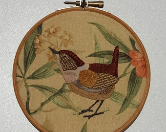 Embroidered wren