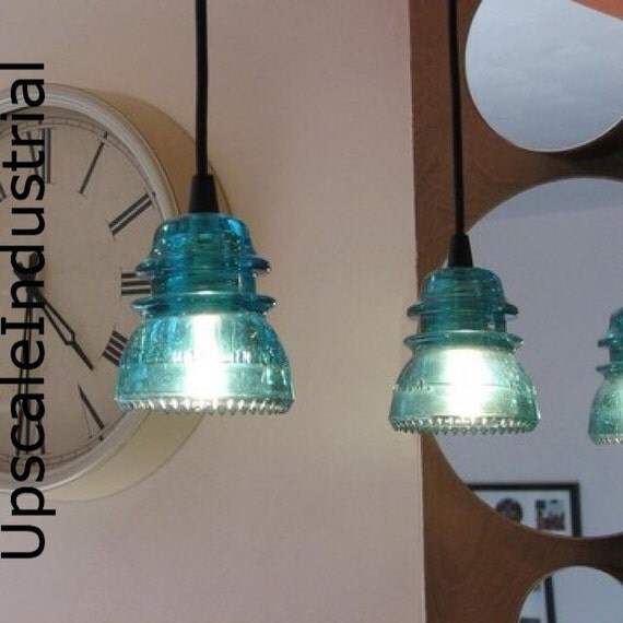 Pendant light glass insulator kitchen island lighting - Clear glass pendant lights for kitchen island ...