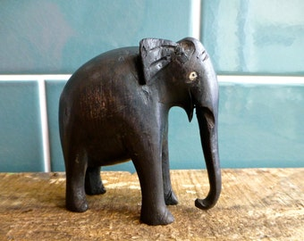 Small Wooden Carved Elephant