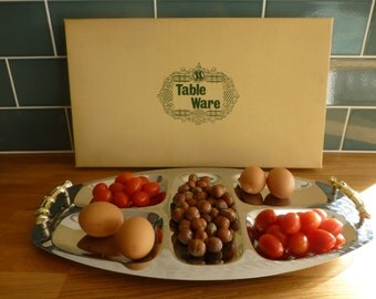 1970s Old Hall Stainless Steel Hors d'Oeuvre Tray