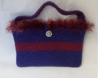 Shaggy Chic Felted Purse