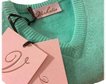 Virkotie AQUAMARINE 100% Cashmere Sweater