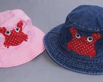 Infant Bucket Hat, Toddler's Bucket Hat, Children's Bucket Hat, Sun Hat, Pool/Beach Hat