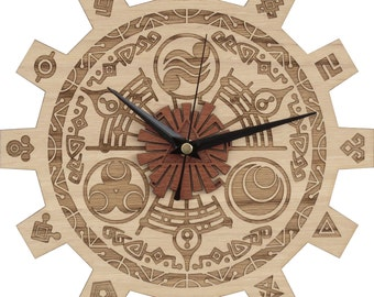 Zelda Clock in Wood - Gate of Time Clock