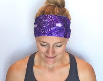 Fitness Headband - Workout Headband - Running Headband - Yoga Headband - Galaxy
