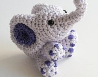 Crochet Baby Toy Elephant