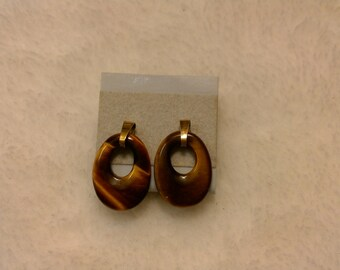 Tiger eye small earrings
